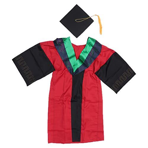PRETYZOOM 2020 Bata de Graduación Uniformes Bata de Graduación para Bachiller Universitario de Secundaria (Por Encima de 175 Cm (68.9 Pulgadas) de Altura)