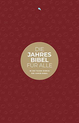 """Die Jahresbibel für alle - """"Red Edition"""": In 365 Tagen durch die ganze Bibel - Hoffnung für alle"""