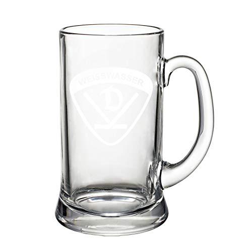 SPORTSMA Dynamo Weißwasser Bierkrug aus Glas Eishockey Fanartikel