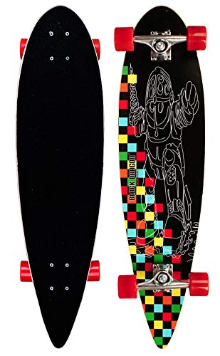 Black Dragon Longboard Pintail Tropical Funk, Schwarz Rot, 36 zoll