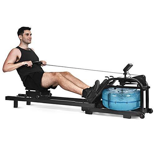 DAMAI Vogatore Ad Acqua, Rowing Machine con Display LCD Multifunzione Allenamento Omogeneo E Delicato sulle Articolazioni