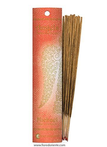 Fiore d 'oriente Anges de Michael d'encens dans Un Emballage Corail, en Bambou, Multicolore, Lot de 10