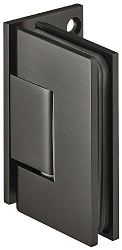 Gedotec Design Duschtürband Messing Bad-Türscharnier schwarz Glastürbeschlag für Glastüren & Duschen | Duschkabinen-Scharnier mit Tragkraft 45 kg | 1 Stück - Glastürband für Wand-Glas-Verbindungen