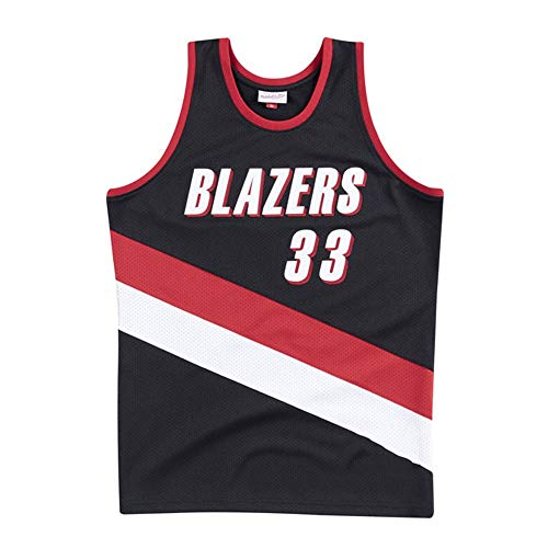 NBA Basketball Trikot für Herren, Retro Basketballtrikot Swingman Jersey, 33# Scottie Pippen, Gym Weste Sport T-Shirt, XS-XXL (Size : XXL)