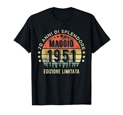 Vintage Nato nel maggio 1951 70 anni 70° compleanno Maglietta
