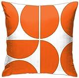 BONRI Mid-Century Modern Orange Square Kissenbezug Tägliche Dekoration Kissenbezug für Sofa Sofa Schlafzimmer Auto Kissenbezug Kissenbezug 17×17Zoll