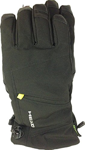 Head Men's DuPont Sorona Insulated Ski Glove With Pocket (Black/Lime, Medium)