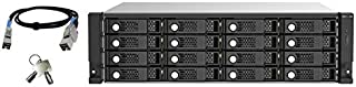 QNAP TL-R1620Sep-RP 16 Bay Rackmount NAS Expansion - Enterprise-Grade SAS 12Gb/s Storage Expansion