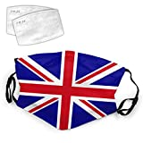 United Kingdom Uk Flag British National Flags Washable Mouth Filter Reusable Cotton Face for Adults Women Men Protect