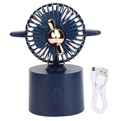 Omabeta Innovador Ventilador USB de Escritorio en Forma de avión Mini Ventilador portátil Ventilador oscilante Ventilador de Viaje Carga USB para Uso en la Oficina en casa(Azul)