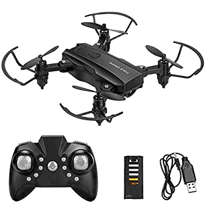 Mini Drone Helicopter for Kids Powcan RC Drone Flying Toys 2.4G Remote Control Quadcopter with 2 Batteries, Altitude Hold, Headless Mode, 3D Flips, One Key Return, 6-Axis Gyro for Boys Girls Beginners