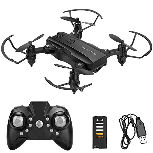 Global-Store Drones for Kids, Foldable RC Mini Drone Helicopters Toys 2.4G Quadcopter Drones with 2 Battery, Altitude Hold, Headless Mode, 3D Flips, for Boys Girls Beginners