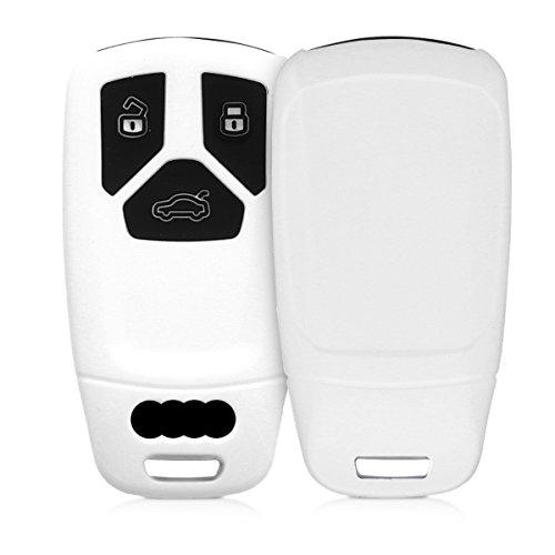kwmobile Funda de Silicona Compatible con Audi Llave de Coche Smartkey de 3 Botones (Solo Keyless Go