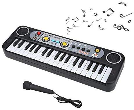 電子キーボード 電子ピアノ 37鍵盤 ピアノ キーボード 3種類音色 8種類リズム 24曲 USB充電式 キーボード 子供 楽器 携帯 ピアノ楽器おもちゃ 安い おしゃれ ミニ 持ち運び 初心者 小型 子供向けマイク付き