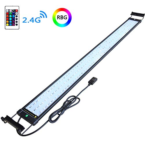 COODIA Aquarium Hood Lighting Color Changing Remote Controlled Dimmable RGBW LED Light