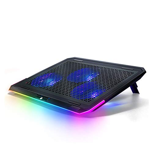 Xbd Notebook Cooler,Gaming Laptop Cooling Pad,Laptop Cooler Stand,angle Adjustable,stepless Speed Regulation,suitable For Notebook/tablet/mobile Phone With RGB Light
