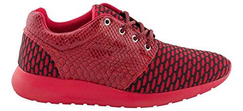 Tamboga Herren Sneakers Laufschuhe Sportschuhe GRENEE Nr.1627, Farben:Rot, Größe Schuhe:40