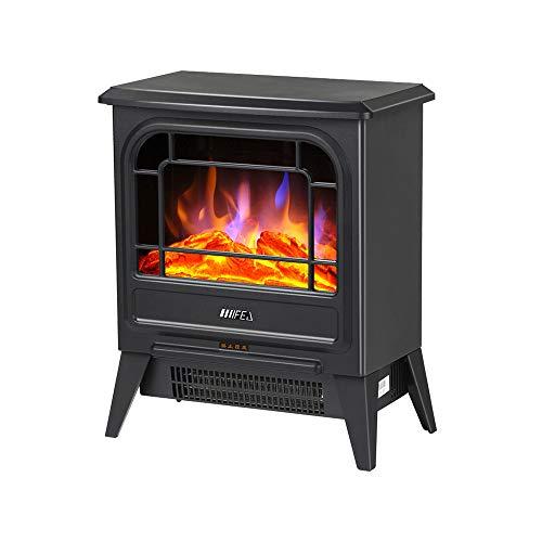 Heater europäische 3D-Simulation Flamme elektrischen Kamin Heizung vertikal Heizung Metall Heizkörper schwarz 900 / 1800W