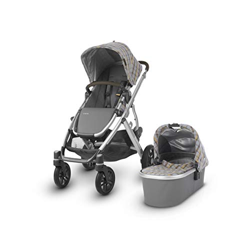Check Out This UPPAbaby Vista Stroller, Spenser (Grey & Yellow Tartan/Silver/Moss Leather), Standard