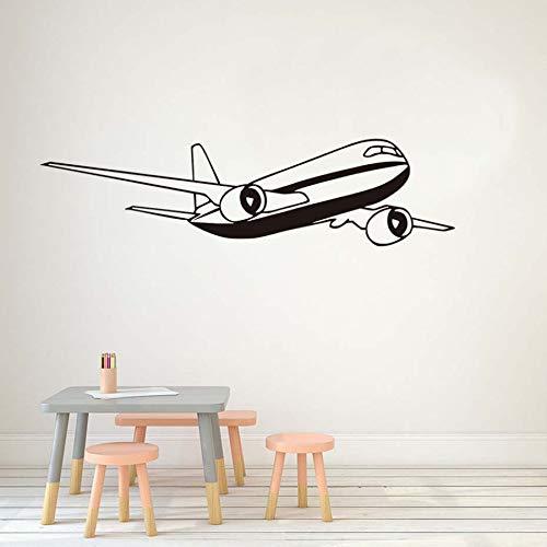 International airliner Flugzeug Art Vinyl Wandaufkleber Kinderzimmer Abnehmbare Selbstklebende Tapete Wohnzimmer Aufkleber Kunstwand 162 * 42 cm