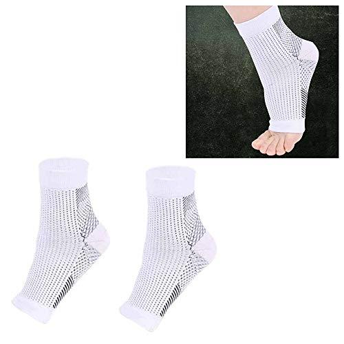 Für Socken SSL Adult Laufzyklus Basketball Sport im Freien Fuß Engel Anti Fatigue Compression Fuß Sleeve Socke, Größe: S/M (Schwarz) (Farbe : Weiß, Größe : L/XL)