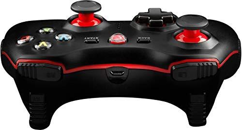 MSI Force GC30, Gaming Pad USB e Wireless, Controller compatibile con PC, Android e le console più famose, motori a doppia vibrazione, cavo 2m, cavo OTG 30cm, Colore confezione: Bianco/Rosso/Nero