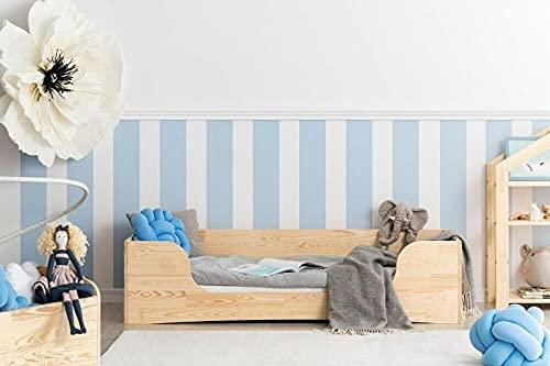 Mami | Cama para niños | Cuna Montessori Elefantino | Colchón Smart (no incluido) Altura niño | Color madera natural | Grabado personalizado con el nombre