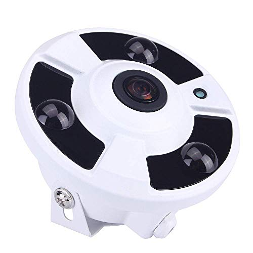 Cámara de vigilancia Cámaras de seguridad cámara de seguridad Inicio, H265 1,7 mm Ojo de Pez, 5MP 3MP 2MP cámara panorámica Ip-DC48V 3.0MP LMMS (Color : Dc48v 3.0mp)