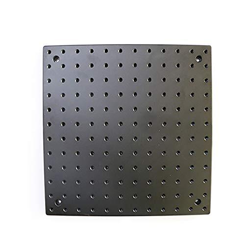 Placa óptica Plana de Aluminio Duro Panal de Abeja, Plataforma Experimental de Aislamiento de Vibración Plataforma de Trabajo Personalizable (600x600mm)