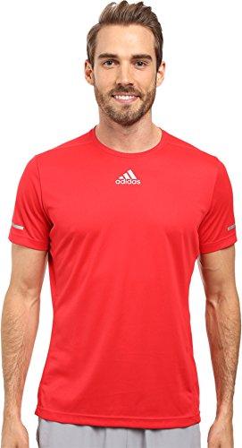 adidas Sequencials Climalite - Camiseta de manga corta para hombre (talla XXL), color rojo