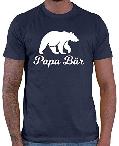 HARIZ Herren T-Shirt Papa Bär Papa Vatertag Baby Plus Geschenkkarte Navy Blau M