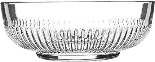 Vajilla de argón Cuenco grande para servir de vidrio Campana - Cuenco mezclador vintage transparente de cocina - 20cm