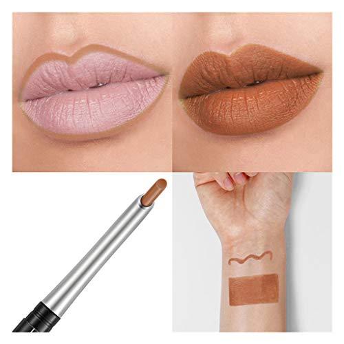 WOZOW Maquillage Lipliner professionnel imperméable crayon crayon contour des lèvres 17 couleurs(J)