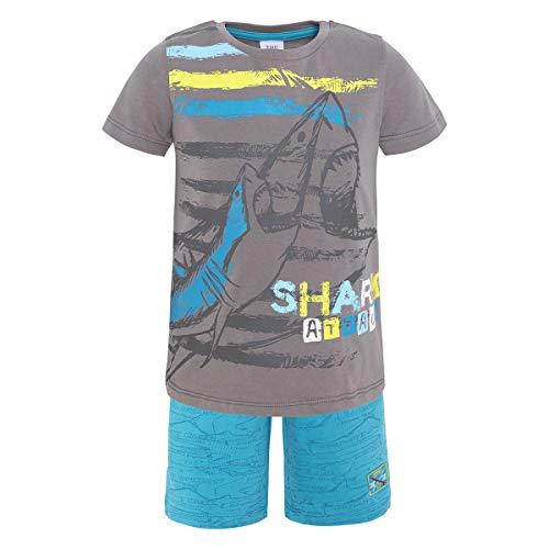 Tuc Tuc Camiseta Punto+Bermuda Estampada Felpa NIÑO Summer Conjunto de Ropa, (Gris 9), 104/110 (Tamaño del Fabricante:5A) para Niños