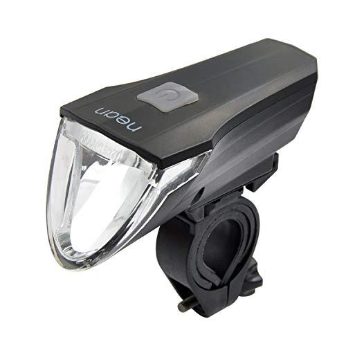 Nean koplamp 60 lux Cree led met traploze automatische lichtautomaat en 3 handmatige helderheidsniveaus, werkt op batterijen