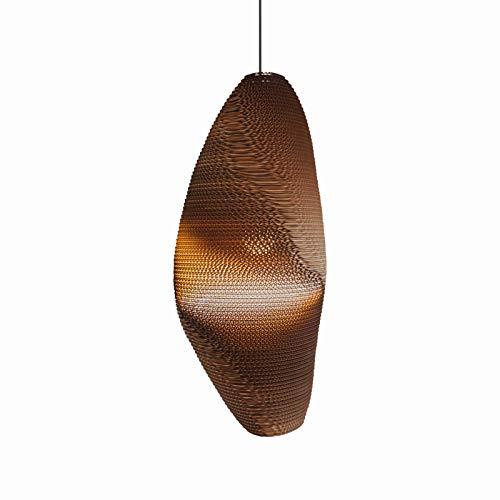 Scraplights hanglamp bruin karton | Handgemaakt in Nederland | hanglamp modern dimbaar | lamp E27