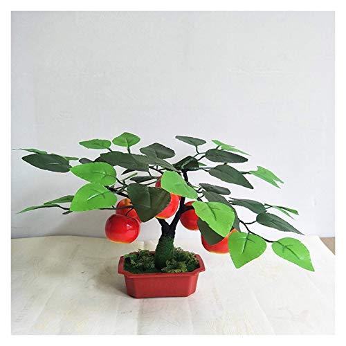 Naranjo Artificial en Maceta Artificial Fruta Artificial Planta de árbol de Fruta Falsa en Maceta Bonsai Planta Falsa con Maceta de plástico para la decoración del jardín de la Oficina en casa,13.