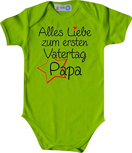 Shirtinstyle Body Todo Amor para Primeros Día del Padre Papa, Manga Corta Body de Bebé, Bebé, Nacimiento, Bautizo, Pelele - Lima, 74-80