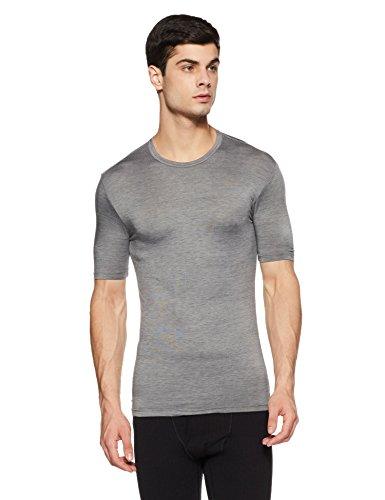 Macroman M-Series Men's M1062 Regular Apparel Pattern Cotton Rich Thermal Top (M1062_Dark Grey Melange_Medium)