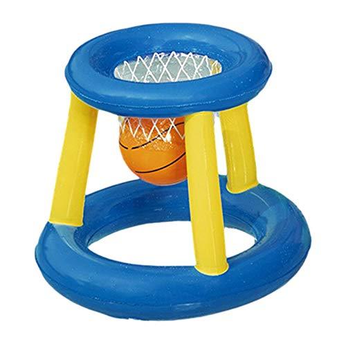 WANGSCANIS Juegos Acuáticos para Niños Flotador Inflable de Piscina Juguete de Flotador de Baloncesto Canasta Hinchable y Flotante para Niños y Adultos