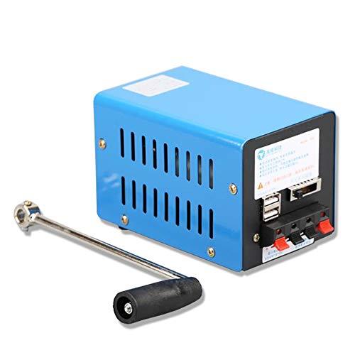 ZXMT Portable Crank Generator, Multifunction Hand USB Generator Crank for Emergency Survival