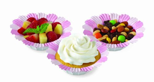 Wilton Pink Blossom Baking Cups, 12 Count
