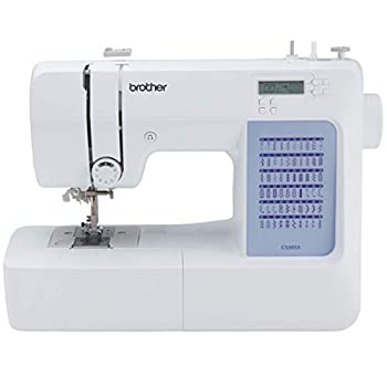 Brother CS5055 Computerized Sewing Machine 60 Built-in Stitches LCD Display 7 Included Feet White  Renewed