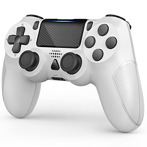 Gobub Wireless Controller Compatible with PS4 Remote with Double Vibration and Audio Function 1000 mAh Battery, Controller Compatible with PS4/Pro/Slim, Touch-pad Joystick Game Controller NOT OEM
