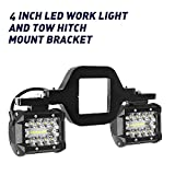Hitch LED Light, EBESTauto 4 Inch Tow Hitch LED Lights with 2 Inch Towing Hitch Mount Brackets LED Bar for Truck Trailer SUV Pickup Fit Dual Led Off-Road Driving Light bar