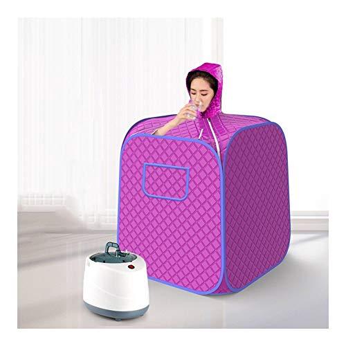 GFSD Saunakiste Mit Haube, Haushalt Tragbar Sauna Dampfzelt Persönlicher Ganzkörper-Spa-Dampf Indoor Body Slimming (Color : Red)