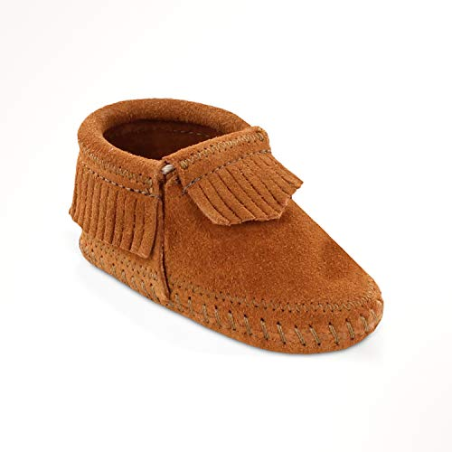 Minnetonka Infant Girl's Riley Moccasin Booties Brown