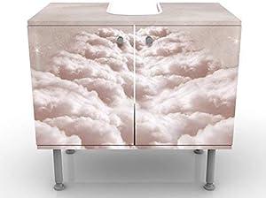 Apalis Design Vanity Sky Alley 60x 55x 35cm, Piccolo, Largo 60cm, Regolabile, lavandino, lavabo, Rubinetto per lavabo da Bagno, Armadio, unità di Base, Bagno, Narrow, Flat