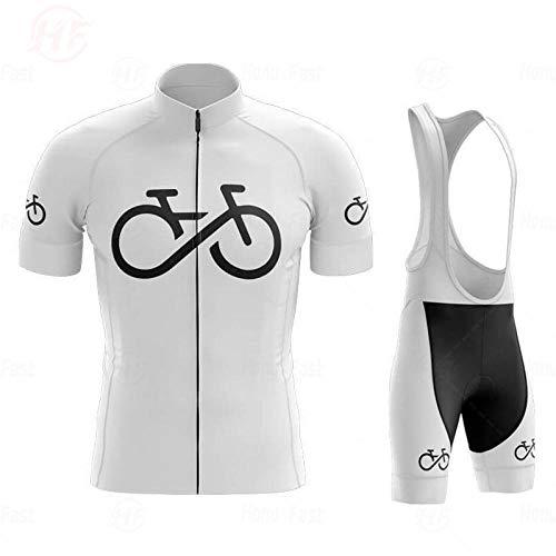 LLYY Maillots de Ciclismo Hombres Camiseta y Pantalones Cortos,Pro Bicycle Team Camiseta de Ciclismo de Manga Corta para Hombre Conjuntos de Ropa de Ciclismo de verano-A01_5XL