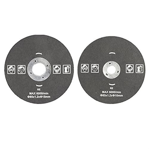Tiempo DE ZUAN Discos de Corte de 85 mm 85x10 / 15mm Resina Circular Rueda de molienda Hojas de Sierra for Corte de Metal Cortar Disco de Corte Herramientas abrasivas